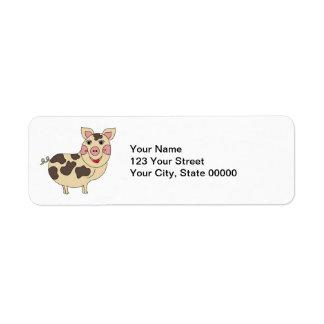 Nyckfull grispersonlig returadress etikett
