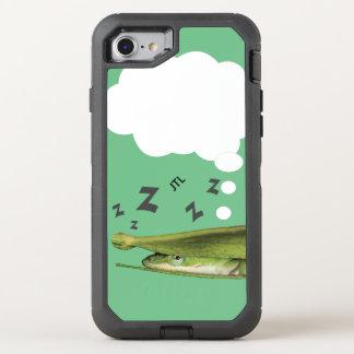 Nyckfull grön ödla Apple dröm- anpassningsbar OtterBox Defender iPhone 7 Skal