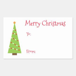 Nyckfull juletiketter rektangulärt klistermärke