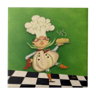 Nyckfull kock kakelplatta