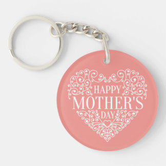 Nyckfull lycklig mors dag Keychain