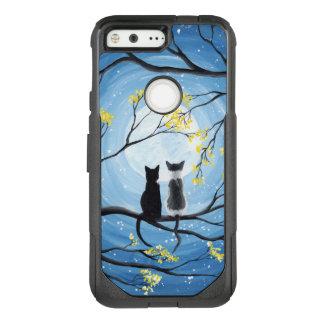 Nyckfull måne med katter OtterBox commuter google pixel skal