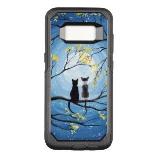 Nyckfull måne med katter OtterBox commuter samsung galaxy s8 skal