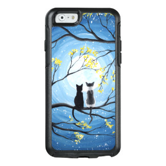 Nyckfull måne med katter OtterBox iPhone 6/6s skal