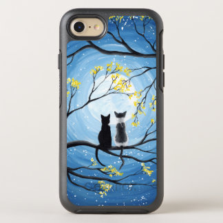 Nyckfull måne med katter OtterBox symmetry iPhone 7 skal
