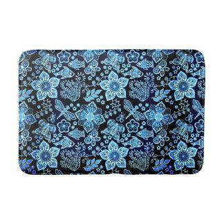 Nyckfull natur för blåttklotterkonst badrumsmatta