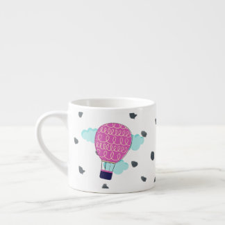 Nyckfull rosa luftballongmugg espressomugg
