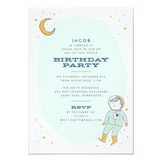 Nyckfull rymdenfödelsedagsfest inbjudan