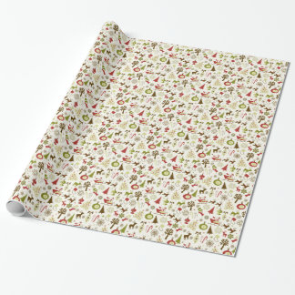 Nyckfull sjal för julsymbolsgåva presentpapper