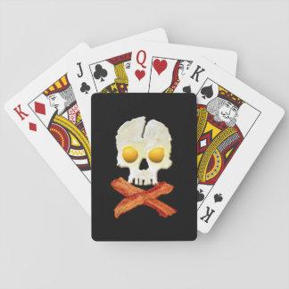 Nyckfull skalle för baconCrossbonesägg Spelkort