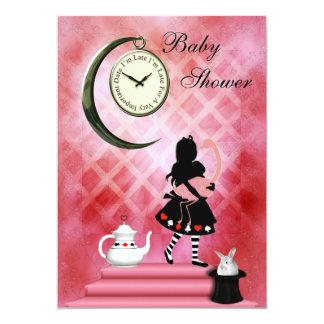 Nyckfulla Alice & rosa Flamingoflickadusch 12,7 X 17,8 Cm Inbjudningskort