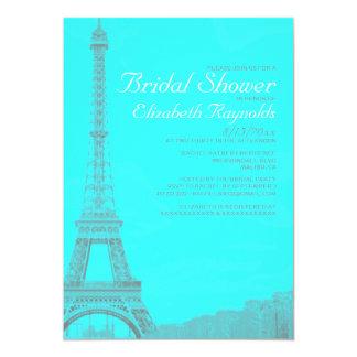 Nyckfulla Eiffel torninbjudningskort för möhippan 12,7 X 17,8 Cm Inbjudningskort