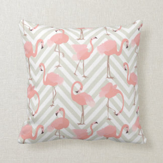 Nyckfulla Flamingos och sparremönster Kudde