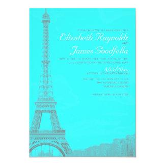 Nyckfulla inbjudningar för Eiffel tornbröllop