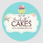 Nyckfulla tårtaetiketter rund klistermärke