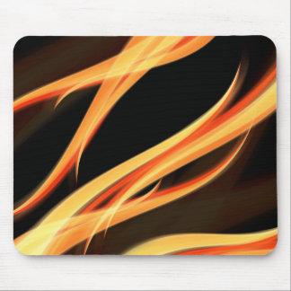 Nyckfullt flammar och glöd - magi, randar, flöde musmatta