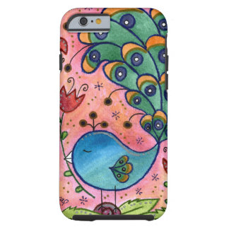 Nyckfullt fodral för påfågeliPhone 6 Tough iPhone 6 Skal