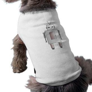 Nyckfullt för Retro flicka för robot för vintage Långärmad Hundtöja