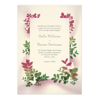 Nyckfullt kort för nedgångbröllopinbjudan personliga inbjudningskort
