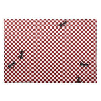 Nyckfullt mattt schackbräde- & myraställe bordstablett