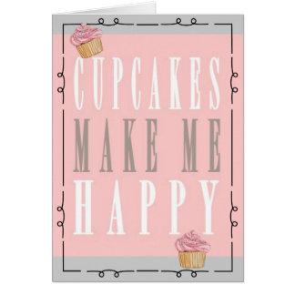 Nyckfullt muffinfödelsedagkort hälsningskort