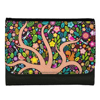 Nyckfullt träd - färgrik nötkreaturplånbok