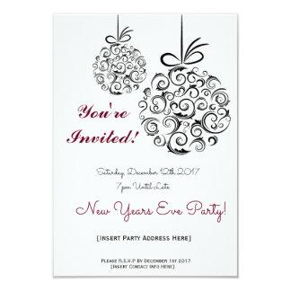 NYE-partyinbjudan 8,9 X 12,7 Cm Inbjudningskort
