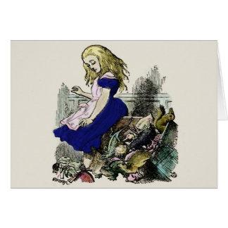 Nyfiken underland för Alice ~-kort OBS Kort
