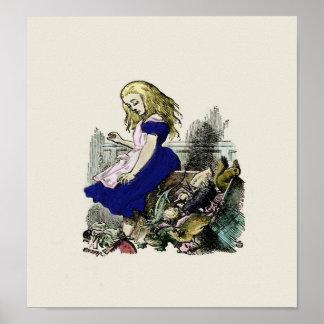Nyfiken underland för för Alice -tryck affisch