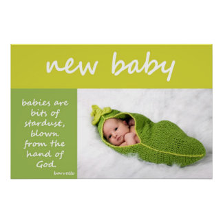Nyfödd bebis affisch