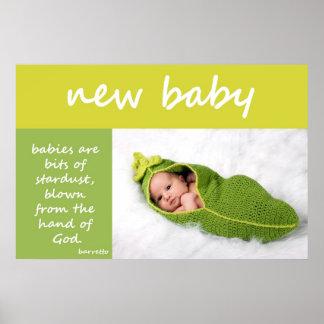 Nyfödd bebis poster