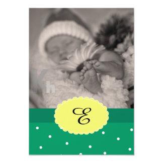 Nyfödd bebisfödelsemeddelande med Polkadots 12,7 X 17,8 Cm Inbjudningskort