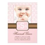 Nyfödd bebismeddelandekort personliga tillkännagivanden