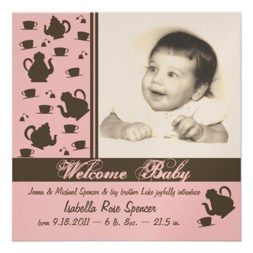Nyfödd bebismeddelanderosor anpassningsbara tillkännagivanden