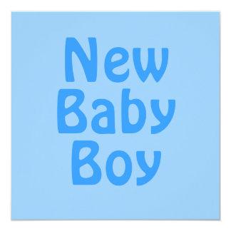 Nyfödd bebispojke. Blått Anpassade Inbjudan