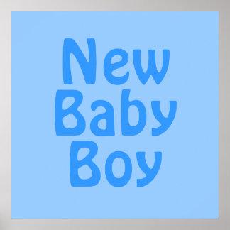 Nyfödd bebispojke. Blått Poster