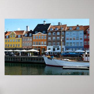 Nyhavn hamn, Köpenhamn, Danmark Poster