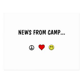 Nyheterna från läger… vykort
