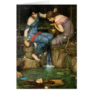 Nymphs som finner huvudet av det Orpheus Hälsningskort