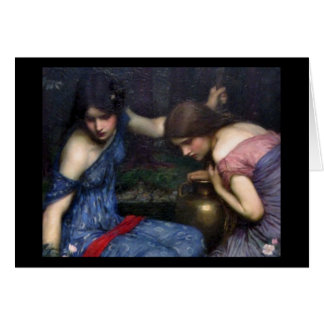 Nymphsna som finner Orpheus Hälsningskort