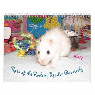 NYTT!!! 2017 råttor av Rodentavläsarkalendern Kalender