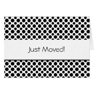 Nytt adress kort för svart polka dots