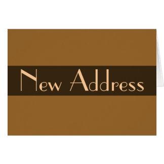 Nytt adress ljust - brunt OBS kort