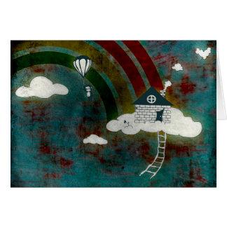 nytt adress meddelande: apa i molnen OBS kort