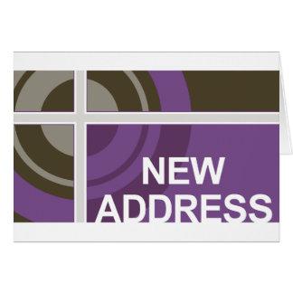 nytt adress meddelande: bullseye OBS kort