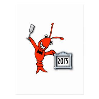 Nytt år för kräftor/för hummer 2013 vykort