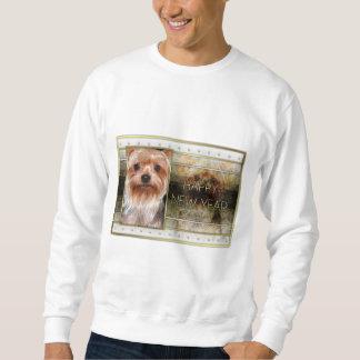 Nytt år - guld- elegans - Yorkshire Terrier Lång Ärmad Tröja