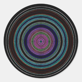 nytt cirklar runt klistermärke