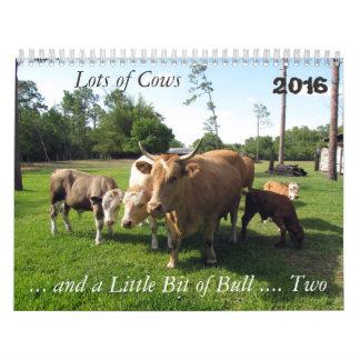 ** Nytt för 2016 ** raddakor & lite tjur för Kalender