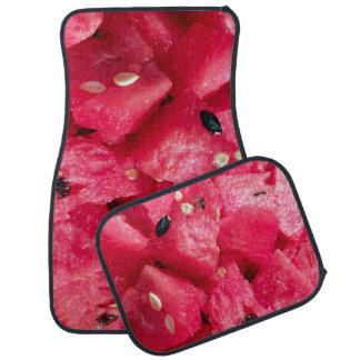 nytt fruktigt foto av skivad vattenmelonsallad bilmatta